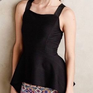 Anthropologie Deletta peplum top-worm once